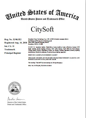 CitySoft® Trademark in the US